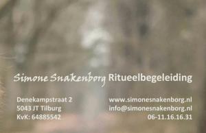Contactgegevens Simone Snakenborg Ritueelbegeleiding